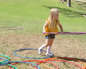Hoola hoops are always a hit, and make for some pretty adorable photos.