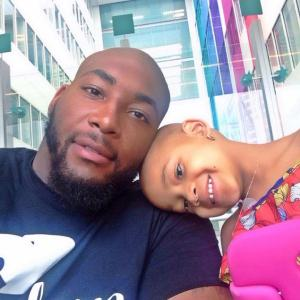 Devon Still and his 4 year old daughter, who is battling brain cancer.