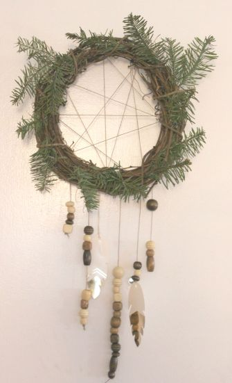Hang wreath dream catcher