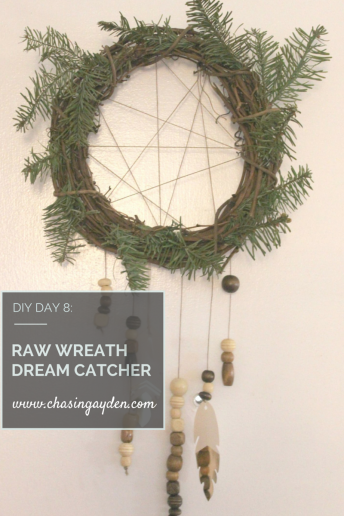 raw wreath dream catcher diy